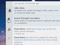 Evernote Mac Activity View