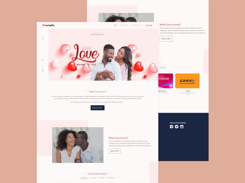 Valentine Day Campaign website web ux ui design app