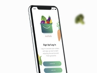 Signup Screen for Grocery Supermarket App