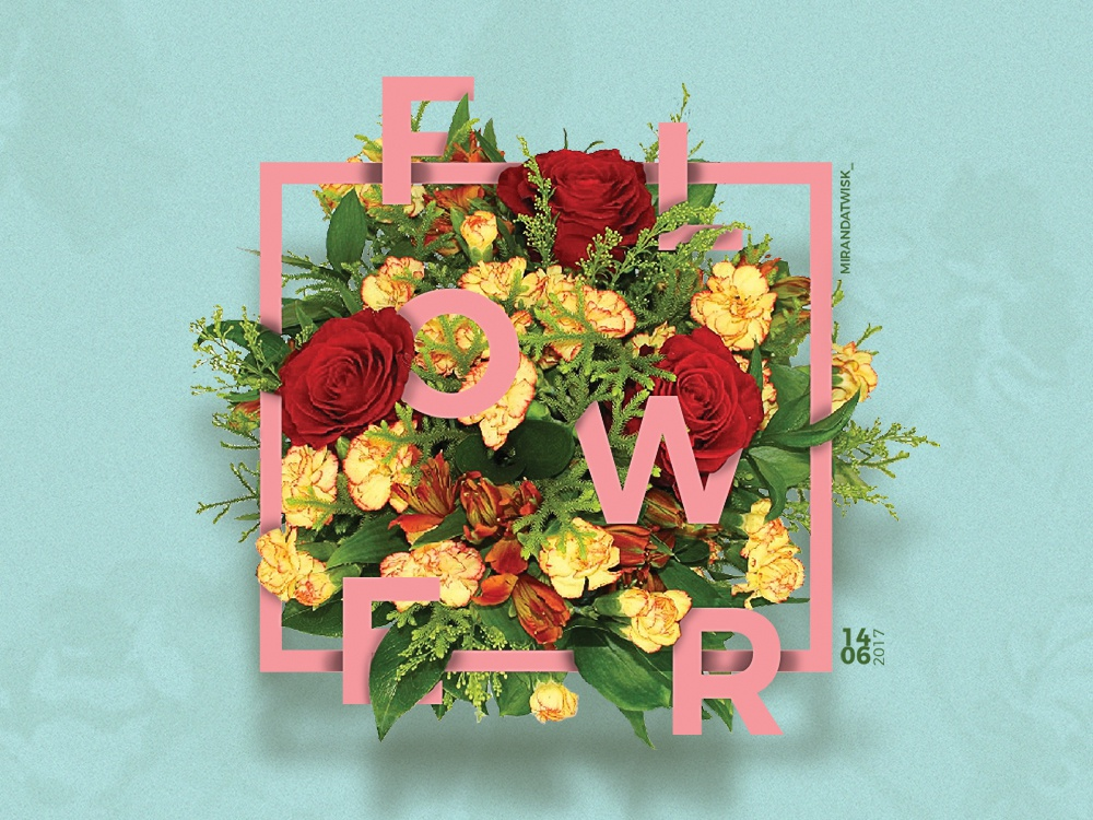 Floral typography effect by Miranda van Twisk | Dribbble | Dribbble