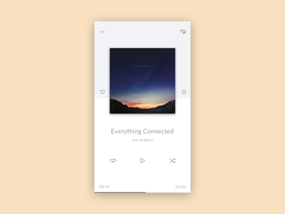 Daily UI challenge #009 — Music Player widget music player daily challange ux ui