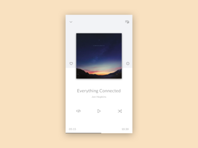 Daily UI challenge #009 — Music Player widget music player daily challange ux ui