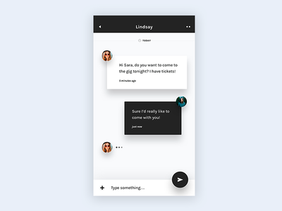 Daily UI challenge #013 — Direct Messaging ux ui daily challange daily message chat