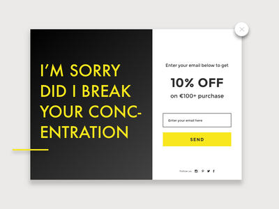 Daily UI challenge #016 — Pup Up daily challange daily ux ui modal pop up