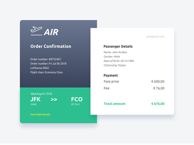 Daily UI challenge #017 — Email Receipt daily challange daily receip ui ux