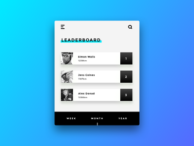 Daily UI challenge #019 — Leaderboard leaderboard ux ui daily challange daily