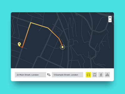Daily UI challenge #020 — Location Tracker daily challange daily ux ui map tracker location