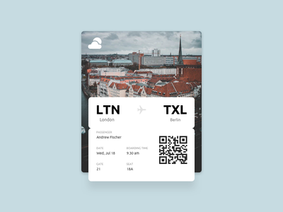 Daily UI challenge #024 — Boarding Pass daily challange daily ux ui boarding pass