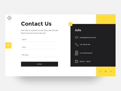 Daily UI challenge #028 — Contact Us daily challange daily ux ui minimal page form contact