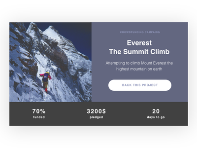 Daily UI challenge #032 — Crowdfunding Campaign design daily daily challange ux ui