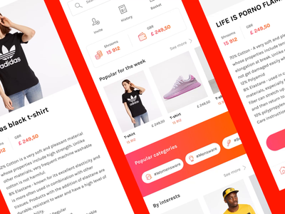 E-commerce marketplace concept animation microinteraction clothes store marketplace aftereffects mobile app animated design ux ui applicaiton