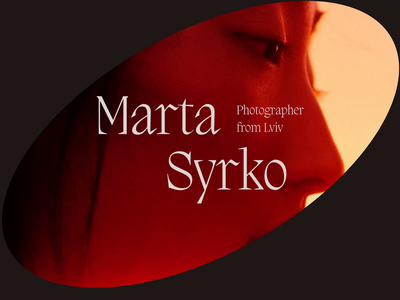 Marta Syrko photographer - inspiration concept applicaiton web typography animation design inspiration animated ux
