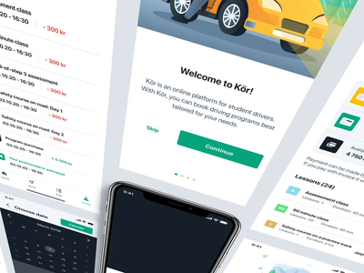 First-ever educational platform for drivers in Norway mobile interface inspiration app branding design animation ui ux applicaiton