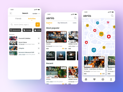 Places to visit - application interface inspiration app mobile ui applicaiton design ux application figma
