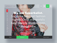 Superbalist Inspired Landing Page