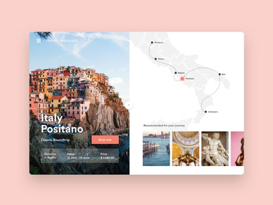 Travel Italy bookings travel pack screens ux design ui design ui  ux design travel