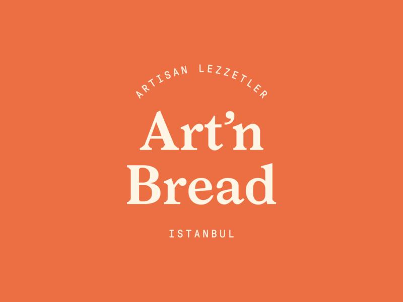 Art'n Bread Logo vintage typography graphic design design lettering serifs monogram logo design branding identity istanbul bread bakery logo minimal logotype logo