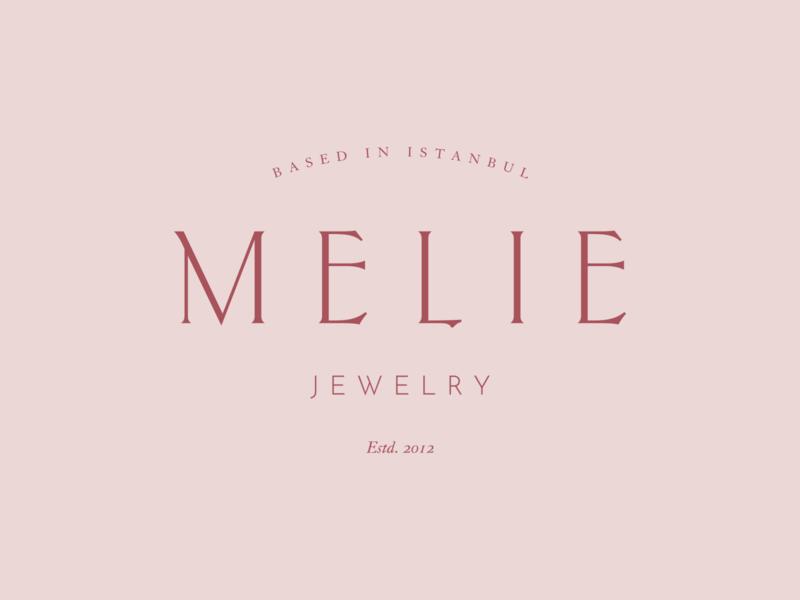 Melie Final Logo istanbul logo design minimal identity typeface layout jewelry logo graphic design branding logos logomark logotype logo