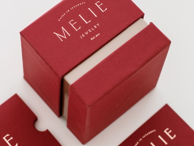 Melie Jewelry Box packagingdesign packaging typeface minimal luxury box design melie jewelry jewelry logo jewelry branding logodesign logos logotype luxury branding luxury packaging jewelry packaging jewelry box