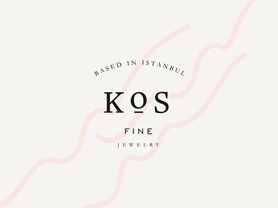 Kos Fine Jewelry london branding logo design logos minimal logo design vector typography design letters istanbul logotype typeface typography branding graphic design minimal logo jewelry branding jewelry logo