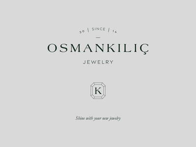 Osman Kılıç Jewelry emblem monogram osman kılıç jewelry letters typogaphy vector minimalist logo logos graphic design branding jewelry branding jewelry logo logomark typeface logotype logo
