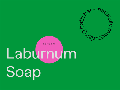 Laburnum Soap London branding logo typography colours london branding london packaging london graphic design vector label design layout design typeface logotype logos logo design soap packaging soap