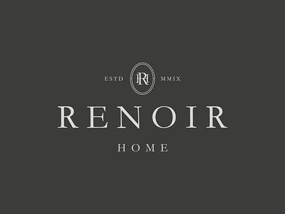 Renoir Home Cyprus Logo graphic design design vector brand identity logo design typeface branding identity typography cyprus home store logo emblem monogram logomark logotype logo