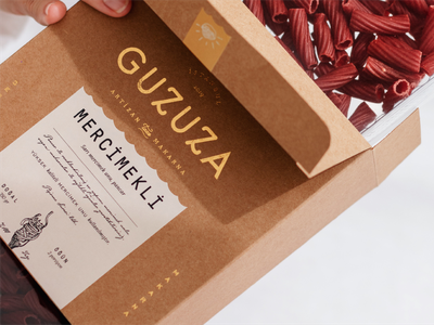 Guzuza Makarna Packaging logo design typography layoutdesign packaging graphic design illustration layout branding pasta london organic pasta organik makarna makarna paketi pasta packaging
