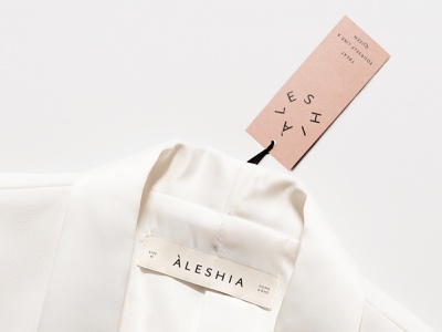 Aleshia Re-Branding london branding logodesign logo clothing logo fashion branding branding agency hong kong minimal graphic design label branding