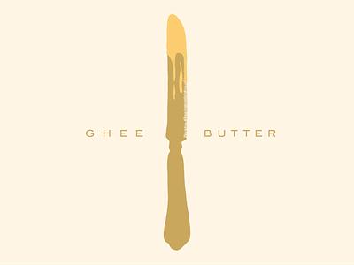 Ghee Butter illustration logomark vector illustration vector art vintage knife butter food illustrator shape 2d illustrator drawing vector graphic design butter illustration ghee butter illustration