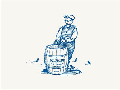 The Levant Tahinier illustration london illustrator illustrator man illustration hand drawing drawing vintage illustration restaurant branding vintage engraving anatolia sesame tahini vector graphic design illustration