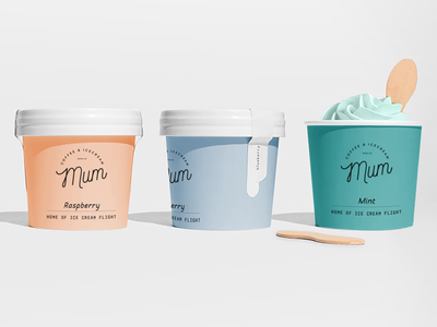 Mum Coffee & Icecream Branding+Packaging