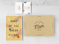 Mum Coffee and Ice Cream Branding