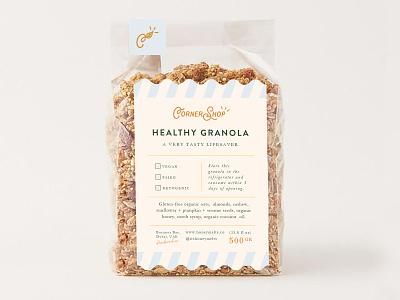 Granola Packaging minimal graphic design logo typogaphy granola branding label design granola branding packaging design granola packaging
