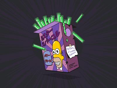 Mr.Sparkle radioactive texture vector illustrator design ishu the simpsons radioactive homer mr.sparkle