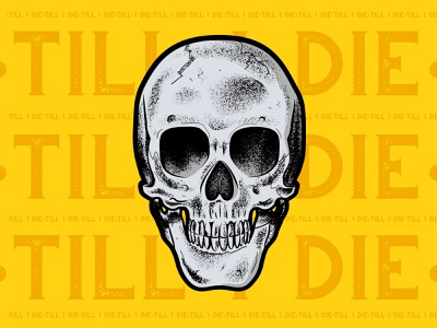 Skull danger illustrator grain texture vector ishu skull art
