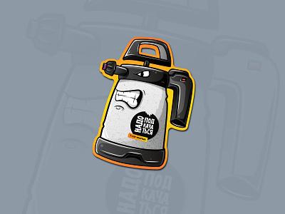 Angry ik foamer (car detailing sticker) illustration texture vector illustrator design foamer ik detailing car ishu sticker
