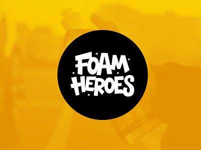 Foam Heroes logo car shampoo detailing heroes foam logo vector design ishu
