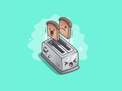 Toaster illustrator ishu toasts toaster illustraion design isometric