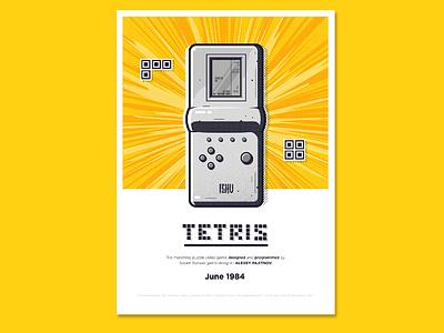 tetris poster texture game tetris poster vector illustration illustrator ishu design