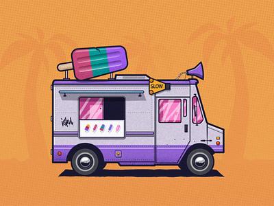 Ice-cream truck danger texture design ishu vector illustration ice-cream