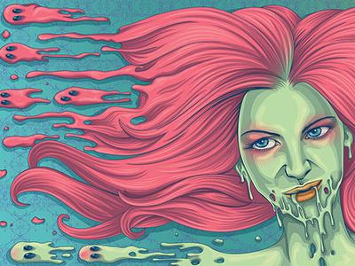 Melt kdlig vector digitalillustration illustration