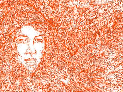 One kdlig doodle illustration penandink