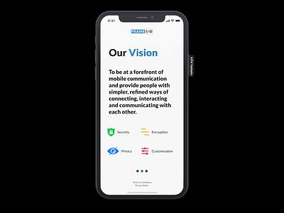 Frame I/O - intro screen web app design ui service product