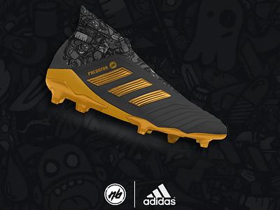 Adidas Predator 18 x NB Elite Ghost concept self initiated project sportswear apparel graphic design sneaker design