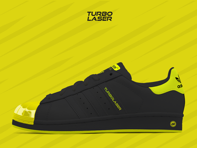 Adidas x NB Superstar Turbolaser concept