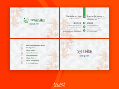 Immigration Consultancy Business Card Design | Mr.Ad card design business card card branding design