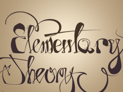 Elementary Theory typo lettering