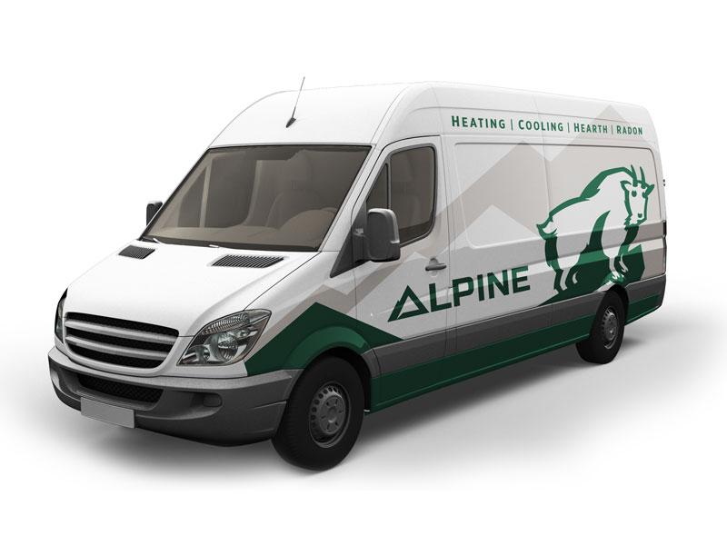 Alpine van branding