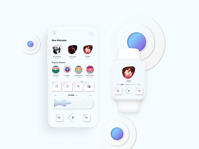 Neumorphic Music App textures depth artist iphonex soft design neumorphic music ui dribbble art deisgn ui  ux ui uidesign music app